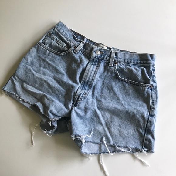 Levi's Pants - Levi 550 relaxed jean cut off shorts denim